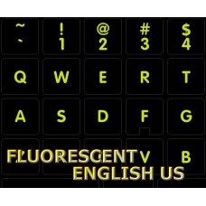 Glowing fluorescent English for Mac keyboard stickers Apple size