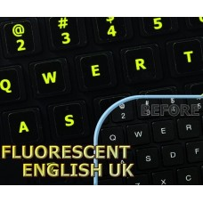 Glowing fluorescent English US for Mac keyboard stickers